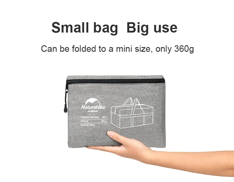 85007728a7b6 Naturehike 100L Storage Bags Waterproof Travel Totes