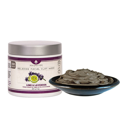 Clay Facial Mask - Lavender & Lime (package-free)