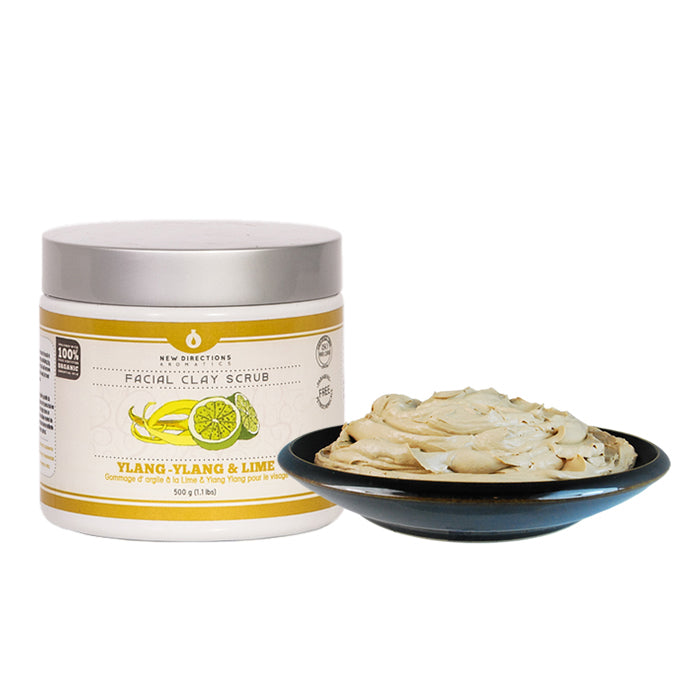Ylang Ylang & Lime Clay Facial Scrub (package free)