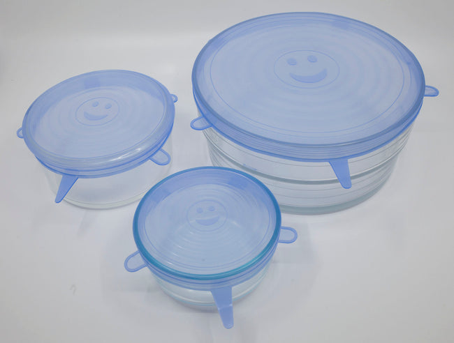 6 pack silicone bowl covers