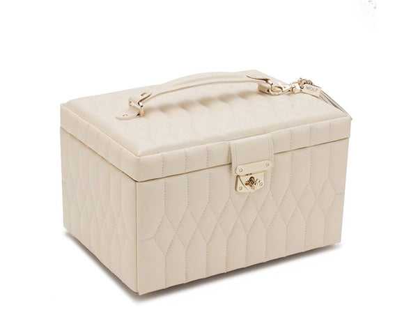 Caroline Medium Schmuck Case Ivory