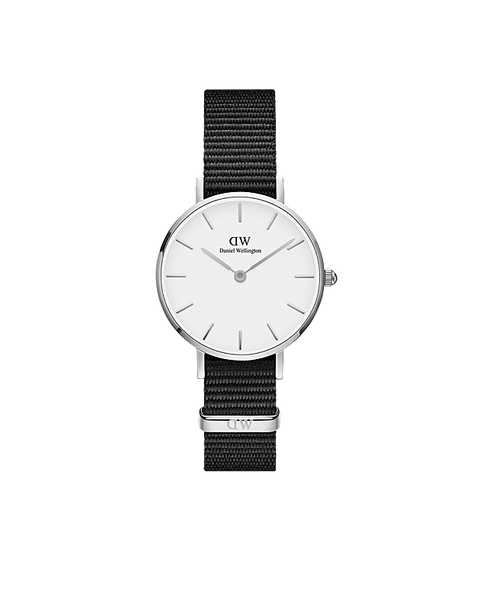DW Classic Petite Cornwall Silber 28mm