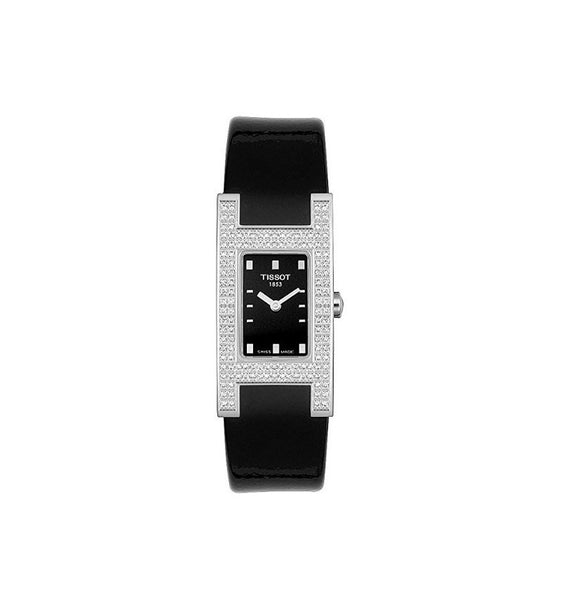 TISSOT Damenuhr Black Diamond Leder - T11142551