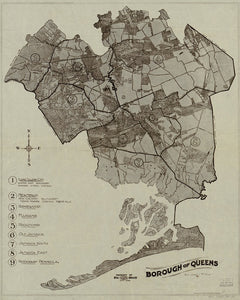 1918 Map of Queens Print