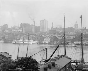 Baltimore from Federal Hill 1903 Print