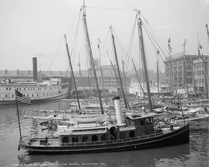 Baltimore Harbor 1905 Print