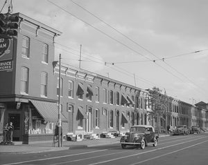 Baltimore Row Houses 1940 Print