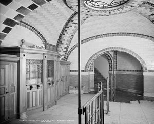 City Hall Subway Station Ticket Booth 1904 Print