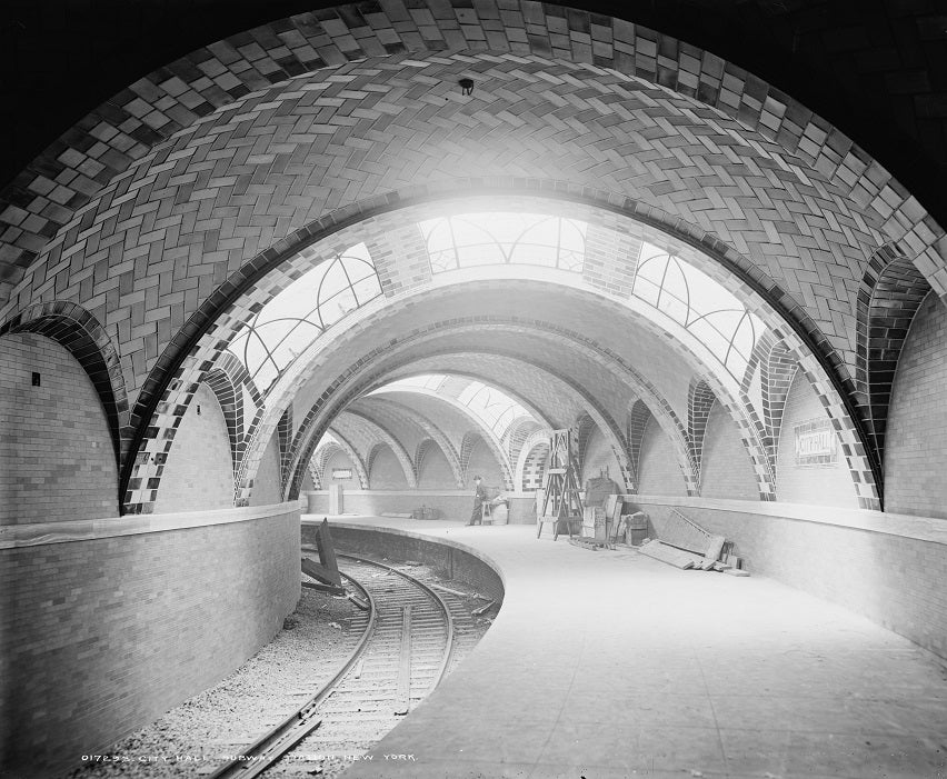 City Hall Subway Station 1904 Print