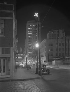 Commerce Street at Night 1942 Print