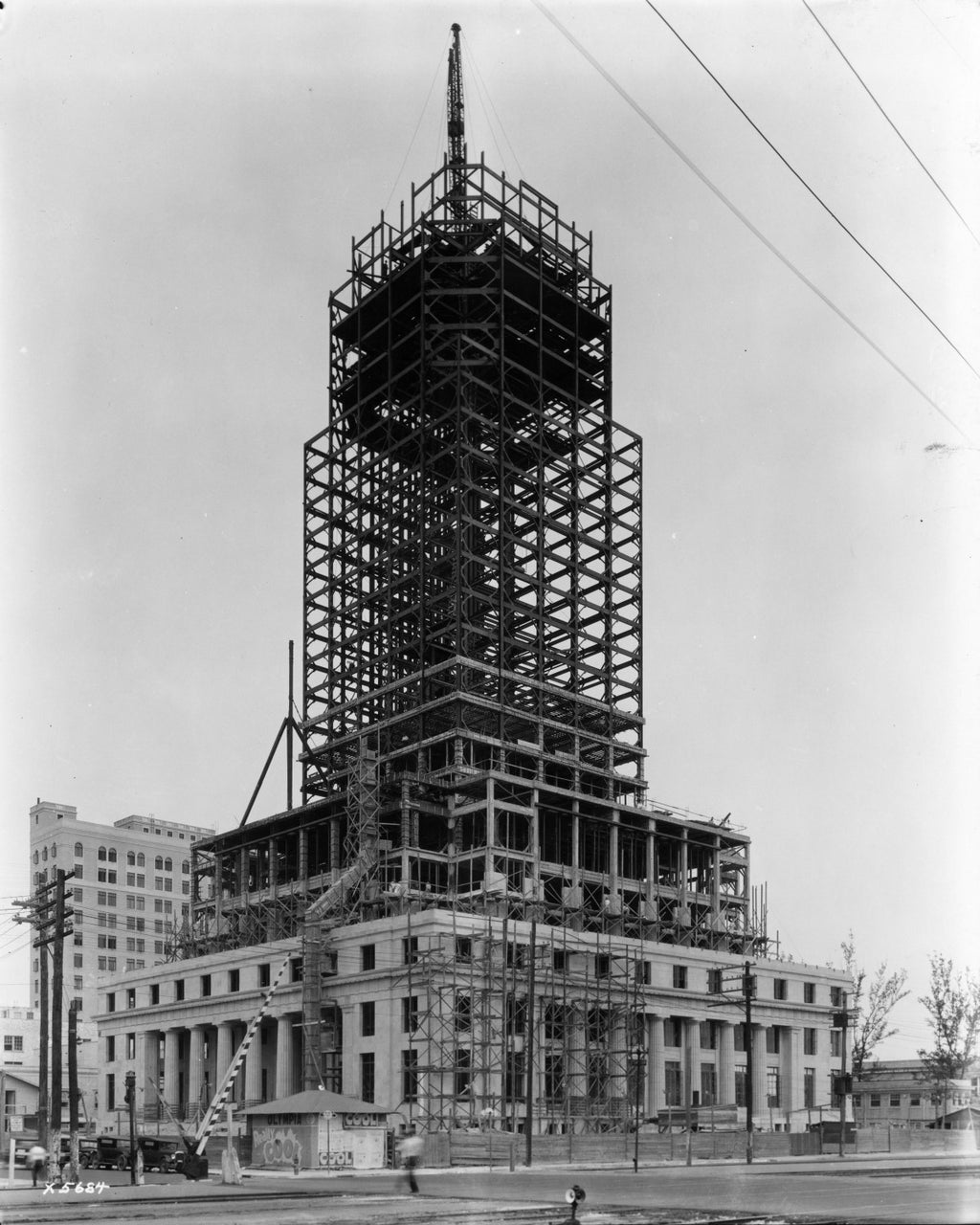 Dade County Courthouse under Construction 1927 Print
