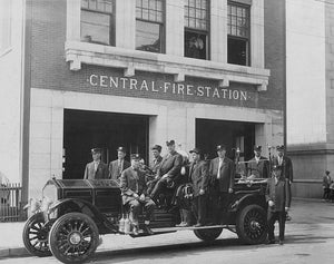 Dallas Central Fire Station 1910s Print