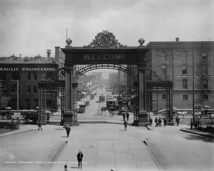 Denver's Welcome Arch 1908 Print
