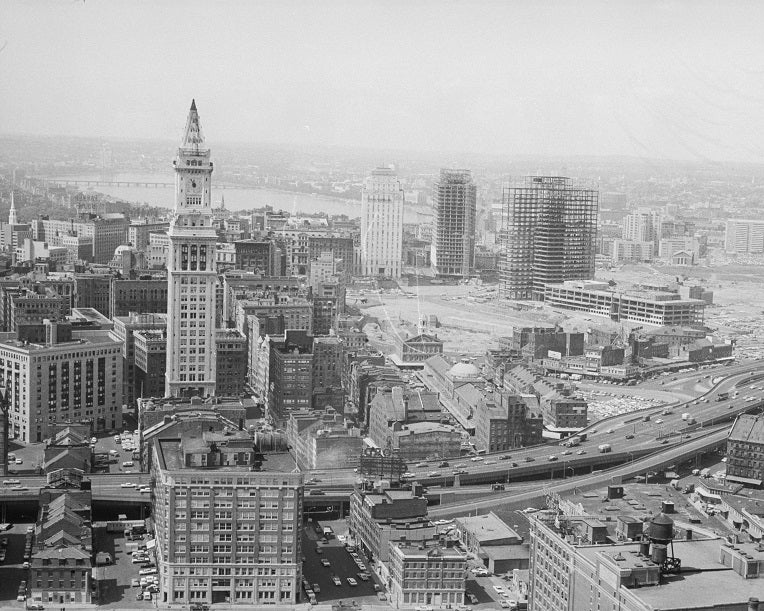 Downtown Boston 1964 Print