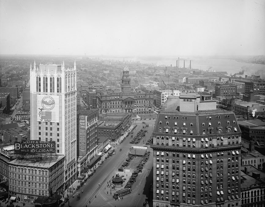 Downtown Detroit 1918 Print