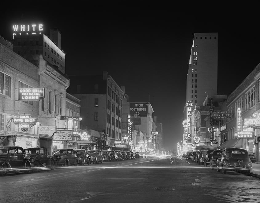 Elm Street at Night 1942 Print