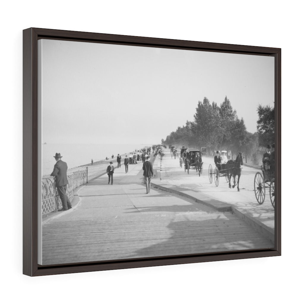 Horizontal Framed Premium Gallery Wrap Canvas - Lake Shore Drive