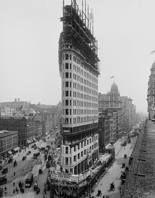 Flatiron Building under Construction 1902 Print