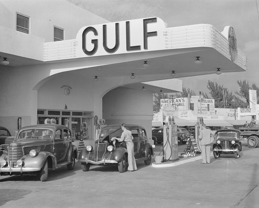 Miami Beach Gas Station 1939 Print
