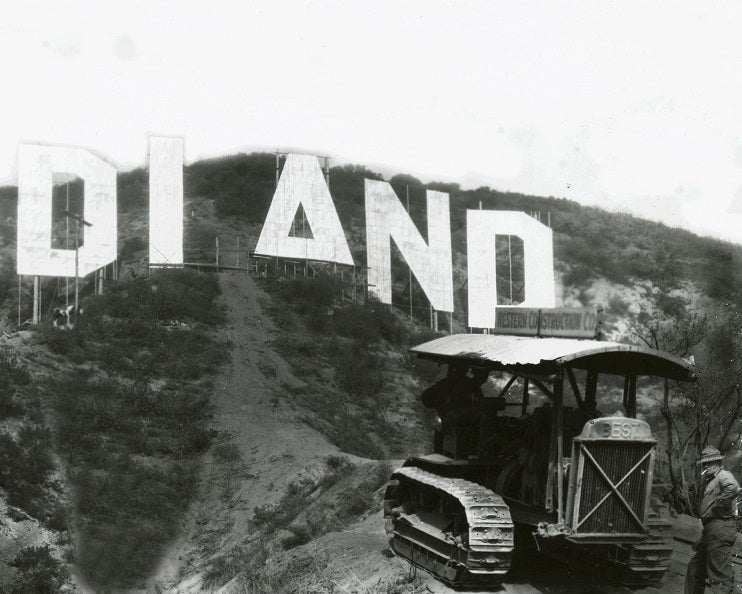 Hollywoodland Sign under Construction 1923 Print
