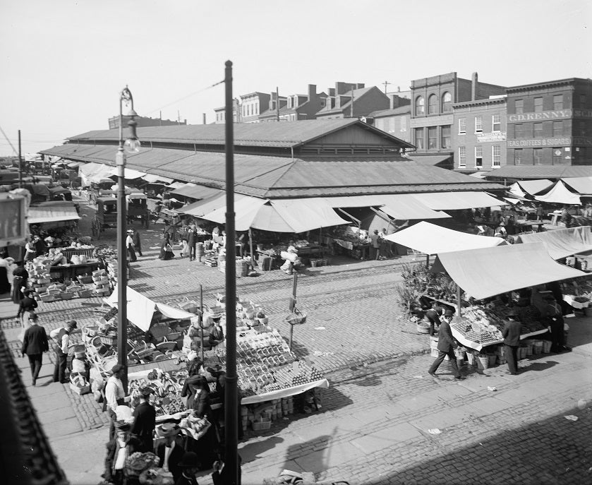 Lexington Market 1905 Print