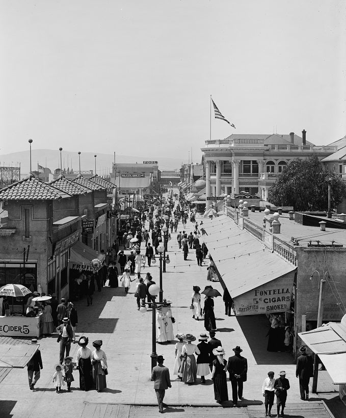 Long Beach Midway 1910 Print