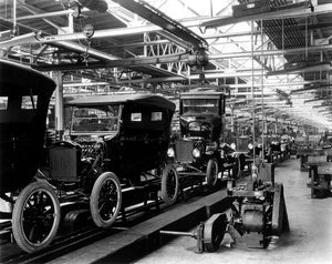 Ford Model T Assembly Line 1910s Print