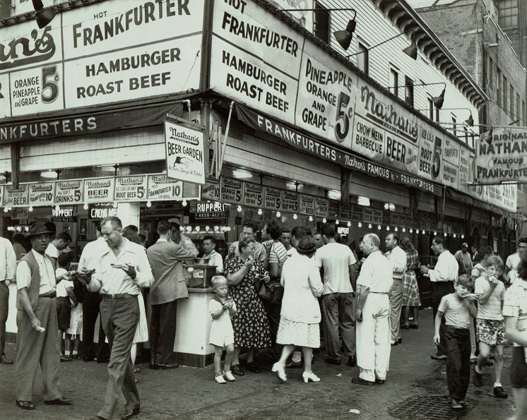 Nathan's on Coney Island 1947 Print