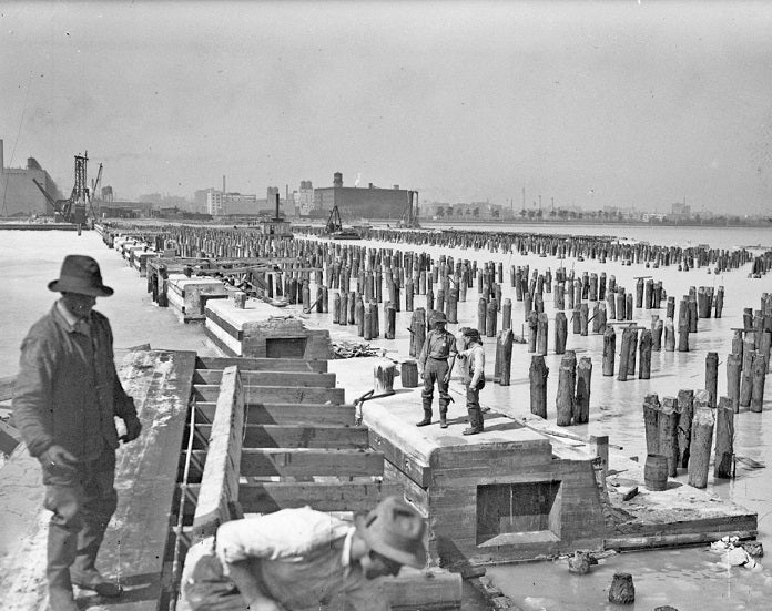 Navy Pier under Construction 1914 Print