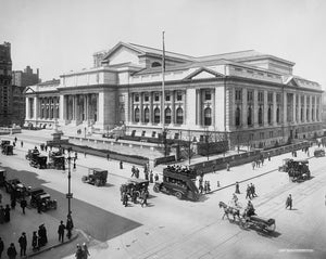 New York Public Library 1911 Print