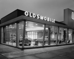 Brooklyn Oldsmobile Dealership 1950 Print