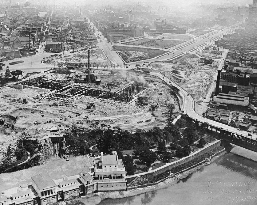 Philadelphia Art Museum under Construction 1919 Print
