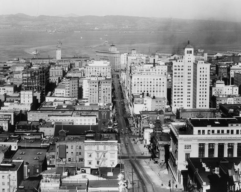San Francisco from California Street 1922 Print