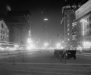 Times Square at Night 1911 Print