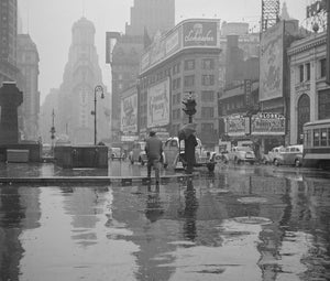 Times Square on a Rainy Day 1943 Print
