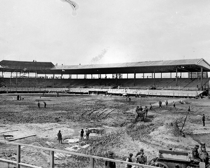 Weeghman Park under Construction 1914 Print