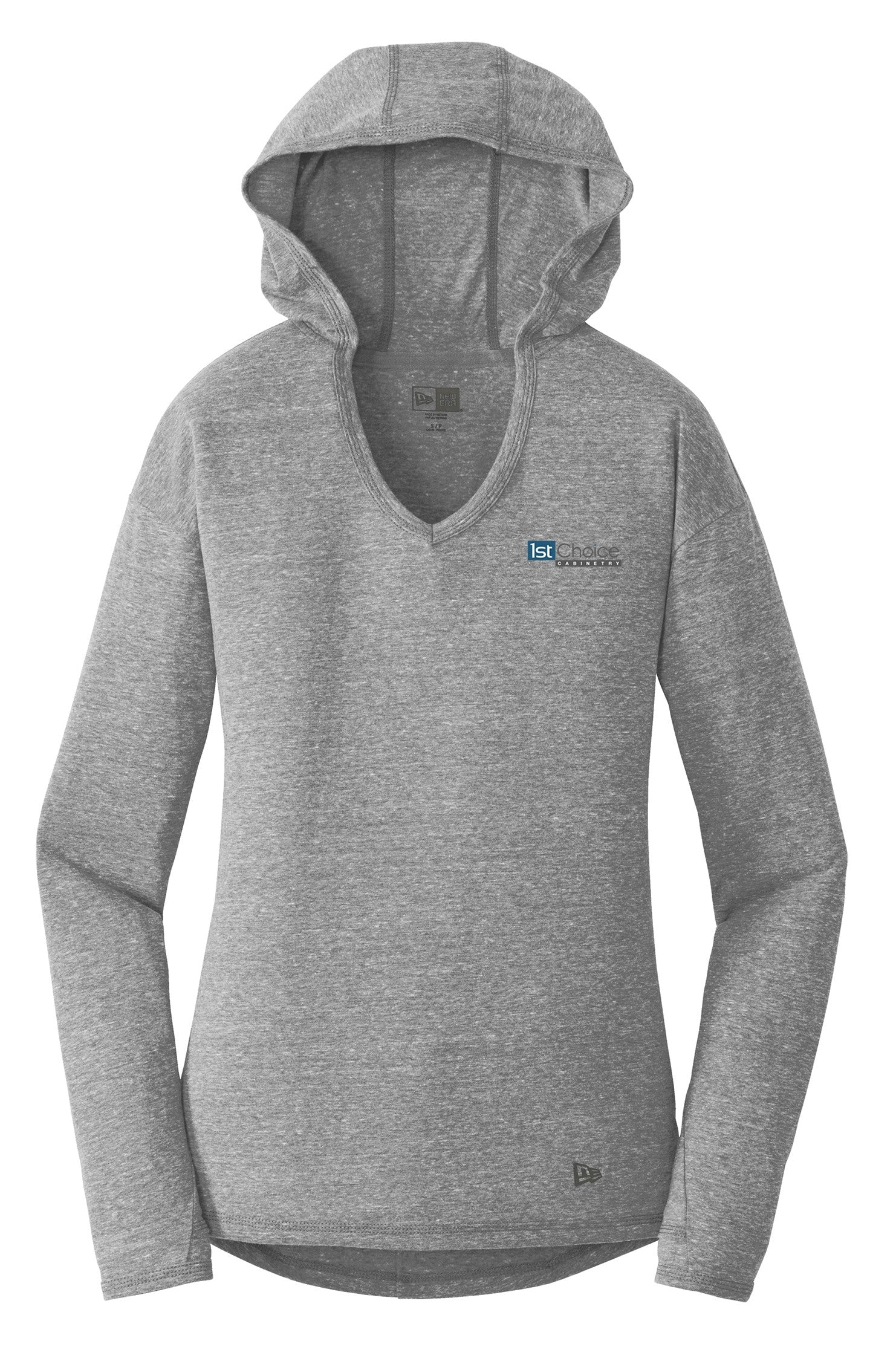 Ladies New Era Tri Blend Performance Pullover Hoodie T-Shirt