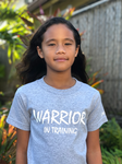 WARRIOR IN TRAINING - HEATHER GRAY CHILDREN'S T-SHIRT