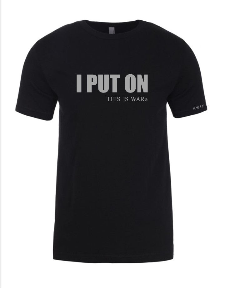 I PUT ON - BLACK  UNISEX T-SHIRT