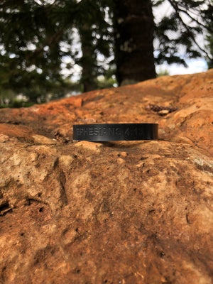 S.W.I.F.T.  / THIS IS WAR  -  BLACK SILICONE WRISTBAND