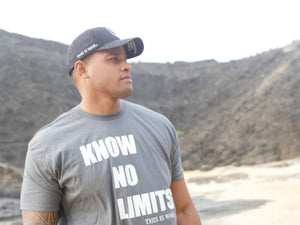 KNOW NO LIMITS - CHARCOAL UNISEX T-SHIRT