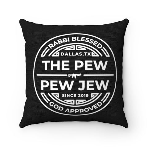The Pew Pew Jew Stamp Pillow