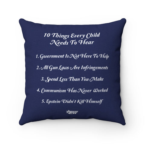 10 Things Pillow