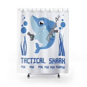 Tactical Shark Shower Curtain