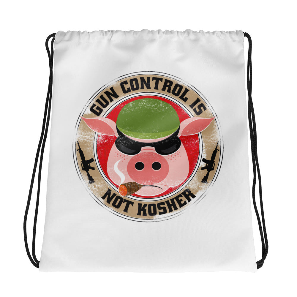 Gun Control Is Not Kosher Drawstring Bag