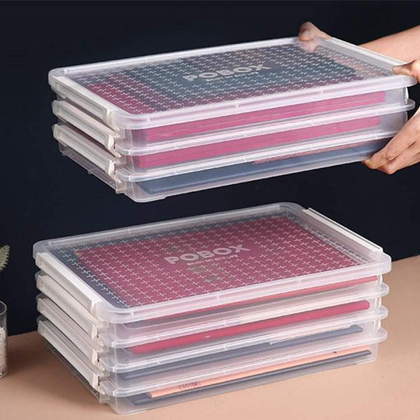 Transparent File Storage Box