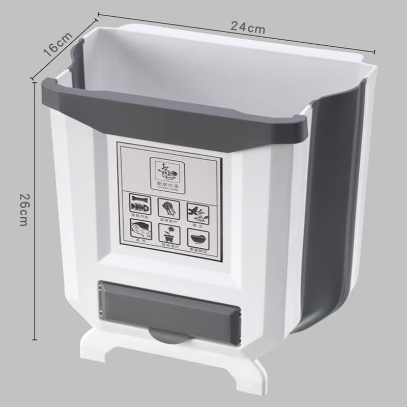 Kitchen Cabinet Foldable Trash Can