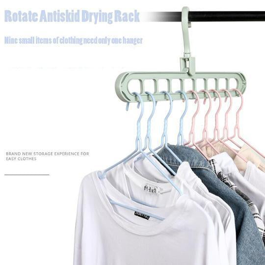 Nine Holes Rotate Antiskid Drying Rack