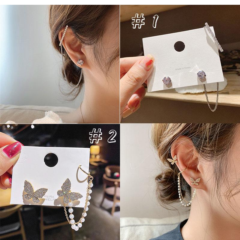 Rhinestones Ear Wrap Accessory(2pcs)