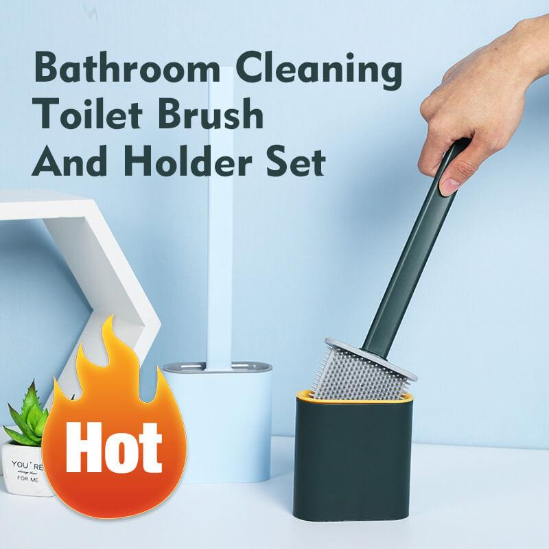 Bathroom Toilet Cleaning Brush And Holder Set(Buy 2 free shipping)